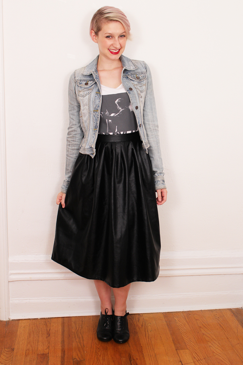 How To Wear A Pleather Midi Skirt: An Analysis - That Cheap Bitch