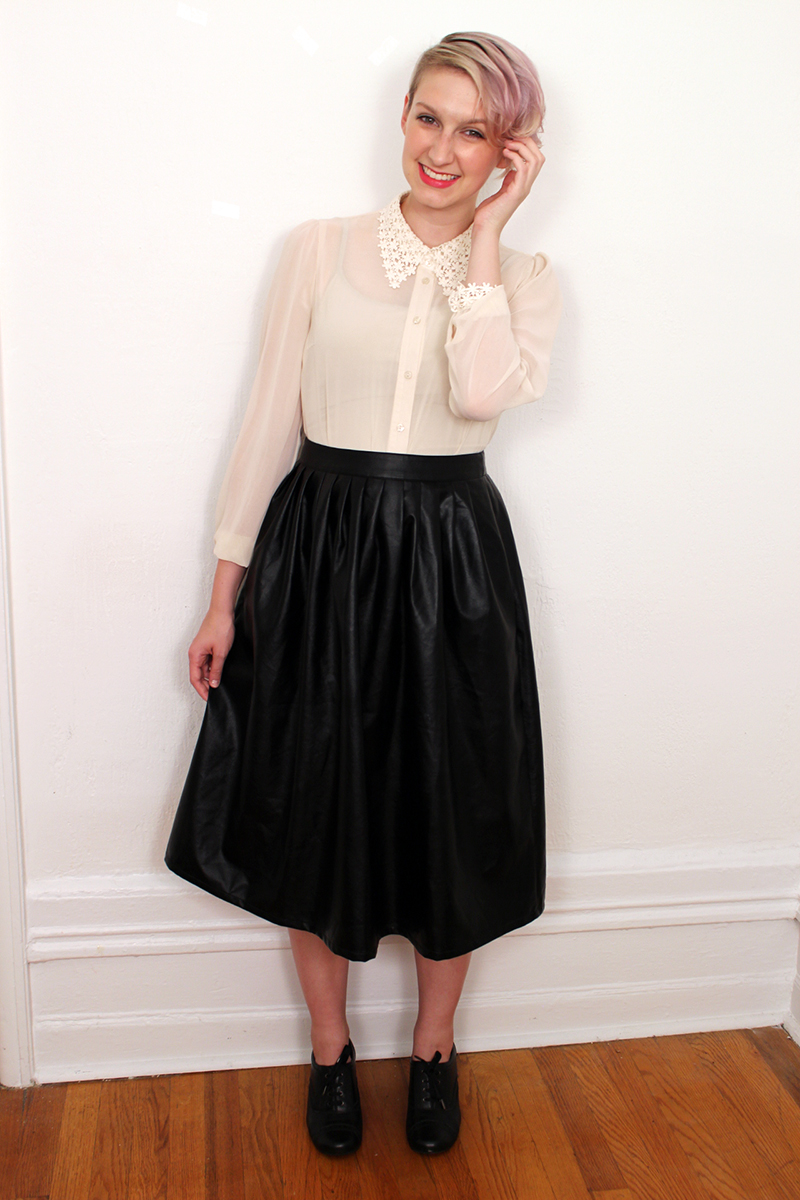 How To Wear A Pleather Midi Skirt: An Analysis